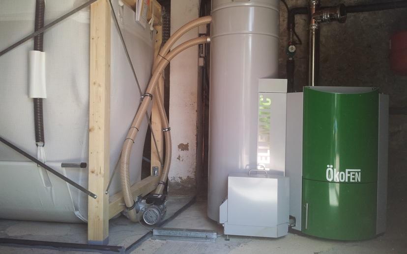 Biomassa unifamiliar a Barcelona
