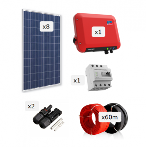 Kit Fotovoltaica 2.000 W (3.248 kWh/any)