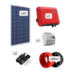 Kit Fotovoltaica 2.500 W (4.060 kWh/any)