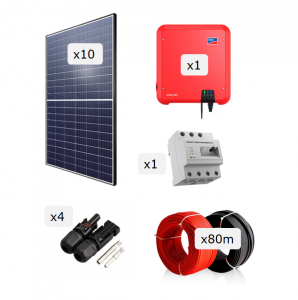 Kit Fotovoltaica 3.000 W (4.930 kWh/any)