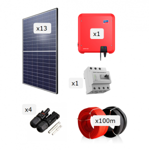 Kit Fotovoltaica 4.000 W (6.409 kWh/any)