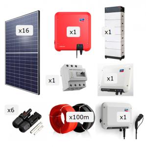 Kit Fotovoltaica + Bateria + Carregador VE 6.000 W